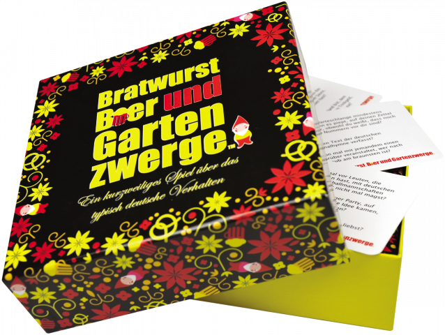 Bratwurst Bier und Gartenzwerge